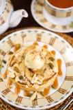 Dessert with ice-cream Royalty Free Stock Image