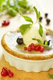 Dessert with ice-cream and berries Stock Photo