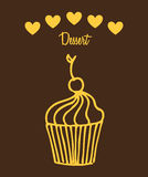 Dessert icon Royalty Free Stock Photography
