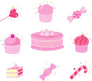 Dessert  icon set Stock Photography