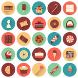 Dessert icon set. Collection of tasty sweets Royalty Free Stock Image