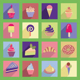 Dessert icon set - Illustration Royalty Free Stock Photo