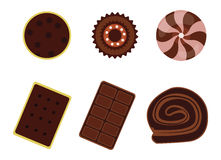 Dessert icon set Stock Image