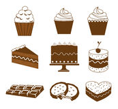 Dessert icons Stock Photography