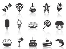 Dessert icons set Royalty Free Stock Photography