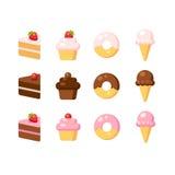 Dessert icons Stock Image