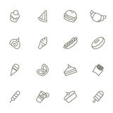 Dessert Icons. A vector illustration of dessert icons black and white Royalty Free Stock Images