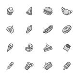 Dessert Icons. A vector illustration of dessert icons black and white Royalty Free Stock Photography