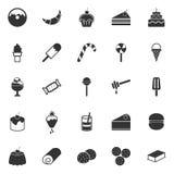 Dessert icons on white background Royalty Free Stock Photos