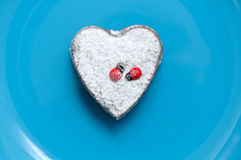 Dessert In The Shape Of A Heart Valentinees Day Stock Photo