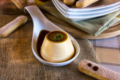 Dessert and italian biscuits Royalty Free Stock Photos