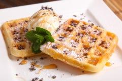 Dessert italiano con gelato Fotografia Stock Libera da Diritti