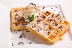 Dessert italiano con gelato Fotografie Stock Libere da Diritti