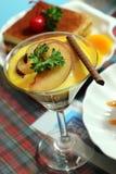 Dessert italiano dello Zabaglione Fotografie Stock Libere da Diritti
