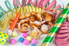 Dessert italiano tipico per il carnevale, immagini stock