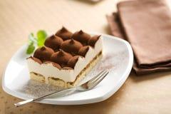 Dessert italien de tiramisu Image libre de droits