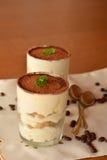 Dessert italien frais délicieux de tiramisu image libre de droits