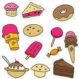 Dessert Item Set. An image of dessert items royalty free illustration