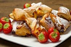 Dessert with jam and raisins Royalty Free Stock Photo