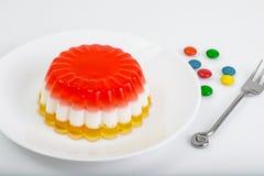 Dessert jelly layered color. Studio Photo stock photo