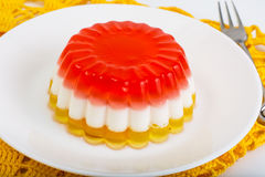 Dessert jelly layered color. Studio Photo royalty free stock image