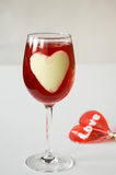 Dessert with jelly in the shape of heart Stock Images