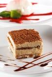 Dessert - Kaastaart Tiramisu stock fotografie