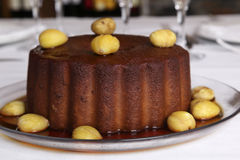 Dessert - kastanjepudding Royalty-vrije Stock Afbeeldingen