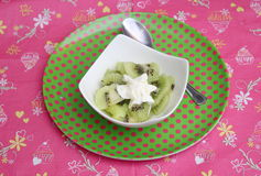Dessert of kiwi Royalty Free Stock Photo