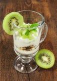 Dessert with kiwi fruit Stock Images