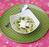 Dessert of kiwi Royalty Free Stock Photos