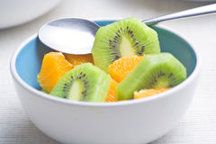 Dessert of kiwi and orange Royalty Free Stock Photo