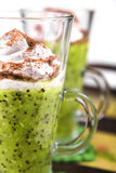 Kiwi and whipped cream Royalty Free Stock Photo