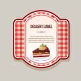 Dessert label tart Royalty Free Stock Photography