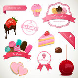 Dessert Labels and Elements Royalty Free Stock Photos