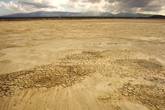 Dessert Lakebed Stock Image