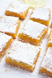 Dessert lemon bars Stock Image