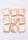 Dessert lemon bars Stock Image
