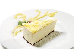Dessert - Lemon Cheesecake Royalty Free Stock Images