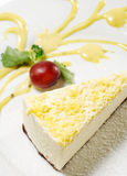 Dessert - Lemon Cheesecake Royalty Free Stock Photos