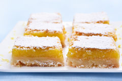 Dessert lemon squares Stock Photography