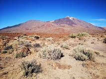 Mount teide low view royalty free stock photography