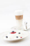 Dessert lussuoso e caffè Fotografie Stock Libere da Diritti