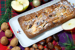 Dessert made with apples and raisins. Homemade dessert with apples and raisins Royalty Free Stock Photography