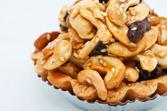 Dessert made from cashew nuts Stock Images