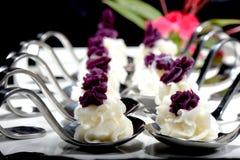 Dessert made of Purple sweet potato and yam Royalty Free Stock Image