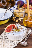 Dessert made with ricotta Royalty Free Stock Images
