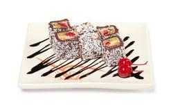 Dessert Maki Sushi - Chocolate Royalty Free Stock Photos