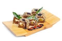 Dessert Maki Sushi Set Royalty Free Stock Photo