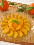 Dessert with mandarins Royalty Free Stock Images